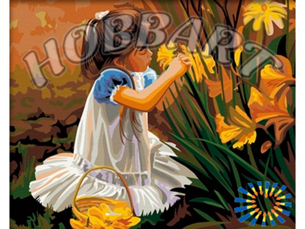 «Девочка с цветами» Дональда ЗоланаHobbart<br><br><br>Артикул: HB4050069<br>Основа: Холст<br>Сложность: средние<br>Размер: 40x50<br>Количество цветов: 25<br>Техника рисования: Без смешивания красок