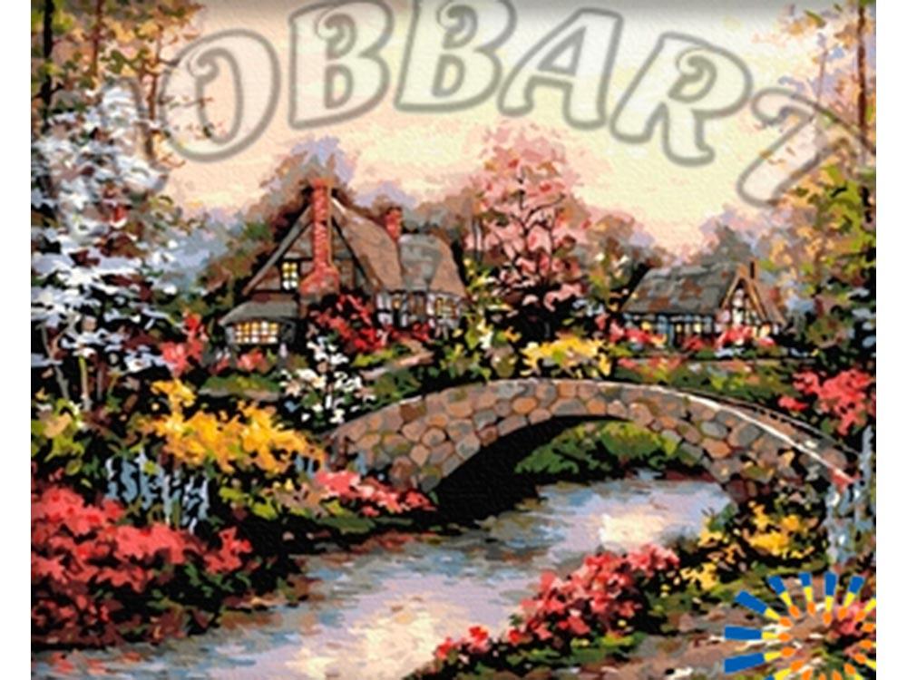«По каменному мостику»Hobbart<br><br><br>Артикул: HB4050079<br>Основа: Холст<br>Сложность: очень сложные<br>Размер: 40x50 см<br>Количество цветов: 30<br>Техника рисования: Без смешивания красок