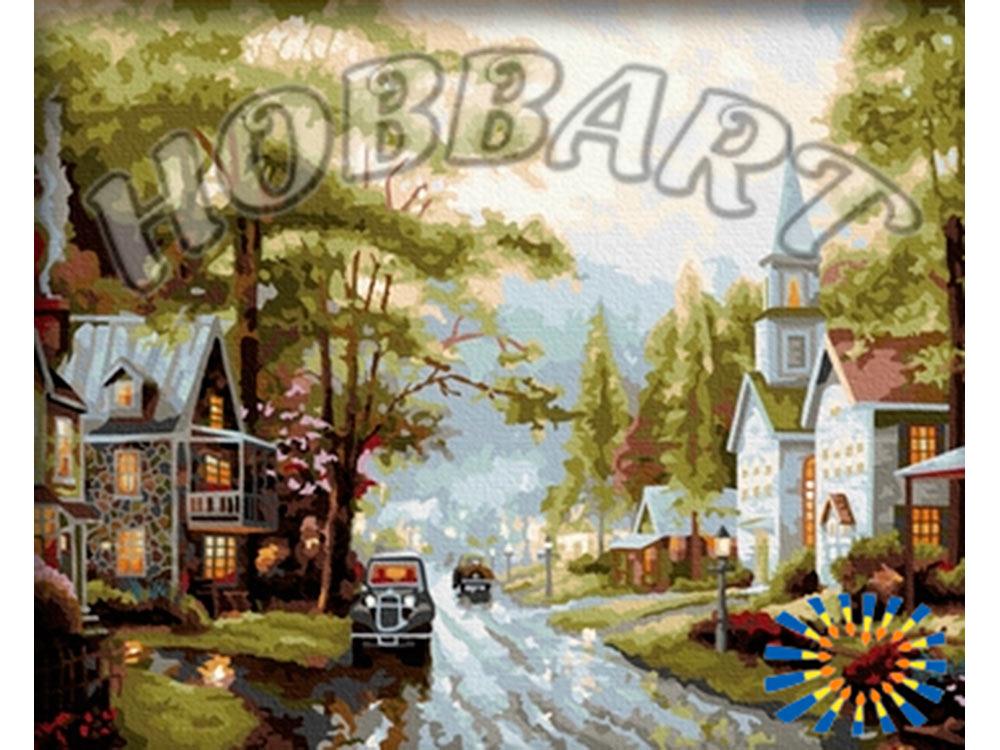 Картина по номерам «У дома»Hobbart<br><br><br>Артикул: HB4050083<br>Основа: Холст<br>Сложность: очень сложные<br>Размер: 40x50 см<br>Количество цветов: 30<br>Техника рисования: Без смешивания красок