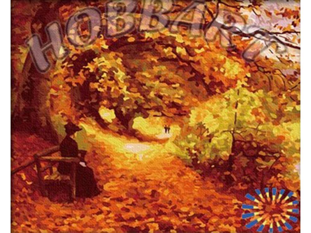 Картина по номерам «Осенний парк» Ганса БрендекильдеHobbart<br><br><br>Артикул: HB4050085<br>Основа: Холст<br>Сложность: сложные<br>Размер: 40x50 см<br>Количество цветов: 25<br>Техника рисования: Без смешивания красок