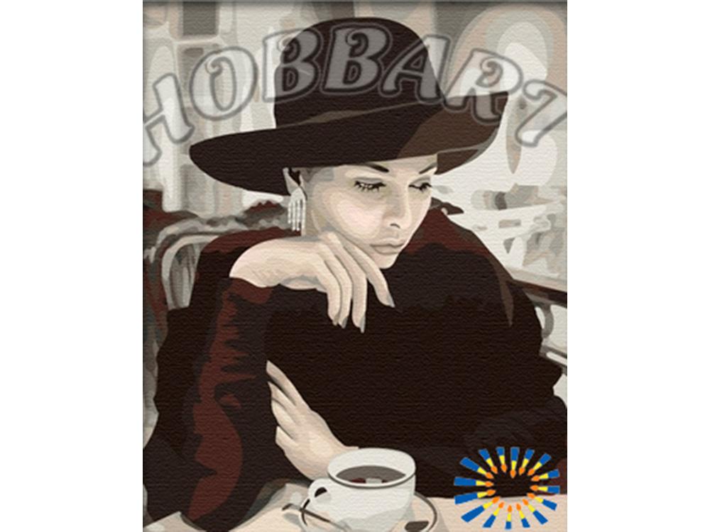 Картина по номерам «За чашкой кофе» Стивена ХендераHobbart<br><br><br>Артикул: HB4050112<br>Основа: Холст<br>Сложность: сложные<br>Размер: 40x50 см<br>Количество цветов: 19<br>Техника рисования: Без смешивания красок