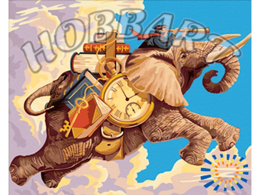 Картина по номерам «Летающий слон» Грега НьюболдаHobbart<br><br><br>Артикул: HB4050162<br>Основа: Холст<br>Сложность: сложные<br>Размер: 40x50 см<br>Количество цветов: 30<br>Техника рисования: Без смешивания красок