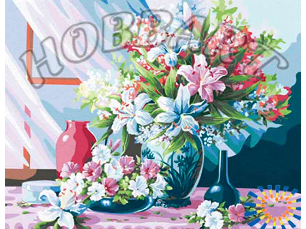 Картина по номерам «Лето в каждом доме»Hobbart<br><br><br>Артикул: HB4050169<br>Основа: Холст<br>Сложность: средние<br>Размер: 40x50 см<br>Количество цветов: 27<br>Техника рисования: Без смешивания красок