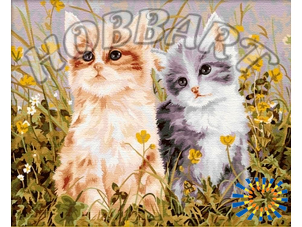 Картина по номерам «Пушистые друзья»Hobbart<br><br><br>Артикул: HB4050209<br>Основа: Холст<br>Сложность: средние<br>Размер: 40x50 см<br>Количество цветов: 28<br>Техника рисования: Без смешивания красок