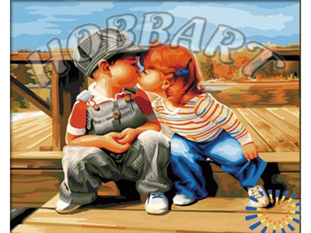 «Первый поцелуй»Hobbart<br><br><br>Артикул: HB4050230<br>Основа: Холст<br>Сложность: сложные<br>Размер: 40x50 см<br>Количество цветов: 25<br>Техника рисования: Без смешивания красок