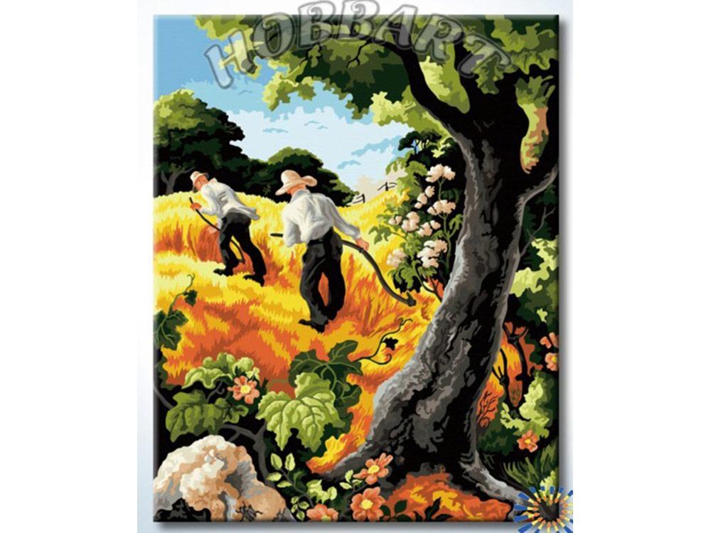 Картина по номерам «Жатва»Hobbart<br><br><br>Артикул: HB4050249<br>Основа: Холст<br>Сложность: сложные<br>Размер: 40x50 см<br>Количество цветов: 29<br>Техника рисования: Без смешивания красок