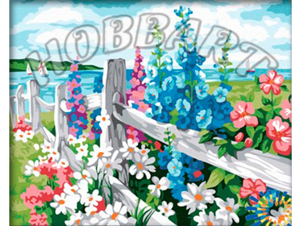 Картина по номерам «За околицей»Hobbart<br><br><br>Артикул: HB4050270<br>Основа: Холст<br>Сложность: сложные<br>Размер: 40x50 см<br>Количество цветов: 25<br>Техника рисования: Без смешивания красок