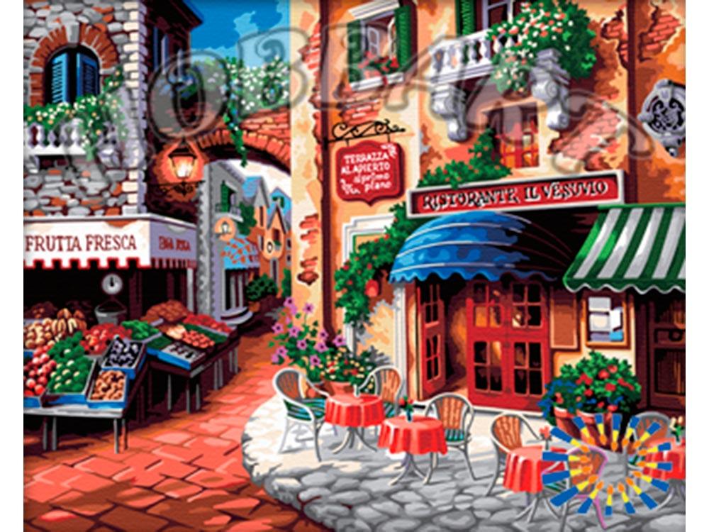 Картина по номерам «Вкус Италии» Ники БоэмHobbart<br><br><br>Артикул: HB4050281<br>Основа: Холст<br>Сложность: сложные<br>Размер: 40x50 см<br>Количество цветов: 30<br>Техника рисования: Без смешивания красок