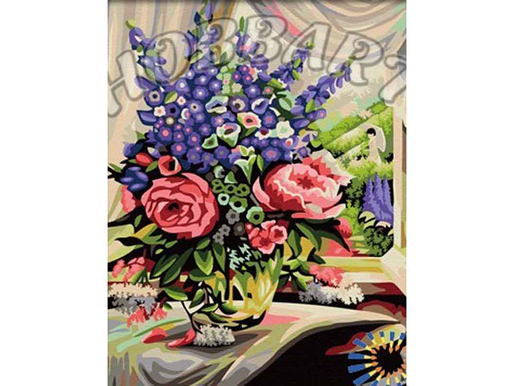 «Розово-люпиновый дуэт»Hobbart<br><br><br>Артикул: HB4050286<br>Основа: Холст<br>Сложность: средние<br>Размер: 40x50 см<br>Количество цветов: 26<br>Техника рисования: Без смешивания красок