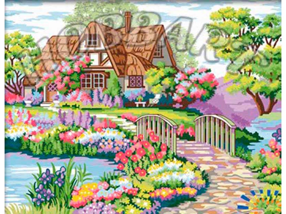 «Цветочная идиллия»Hobbart<br><br><br>Артикул: HB4050301<br>Основа: Холст<br>Сложность: сложные<br>Размер: 40x50 см<br>Количество цветов: 22<br>Техника рисования: Без смешивания красок