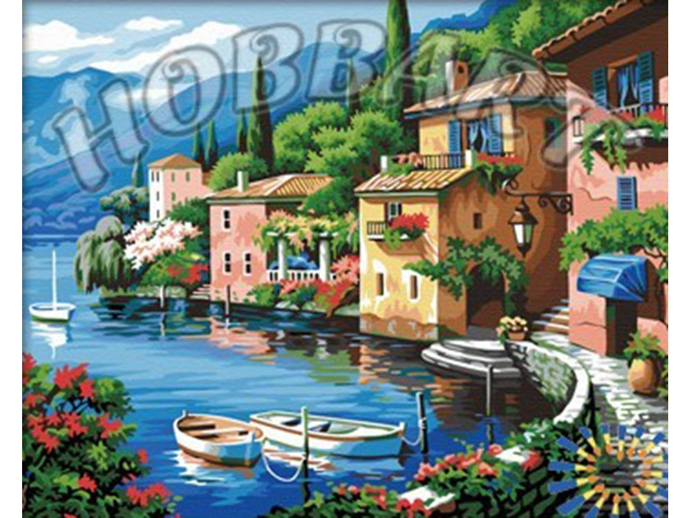 «Домики у моря» Сен КимаHobbart<br><br><br>Артикул: HB4050309<br>Основа: Холст<br>Сложность: средние<br>Размер: 40x50 см<br>Количество цветов: 32<br>Техника рисования: Без смешивания красок