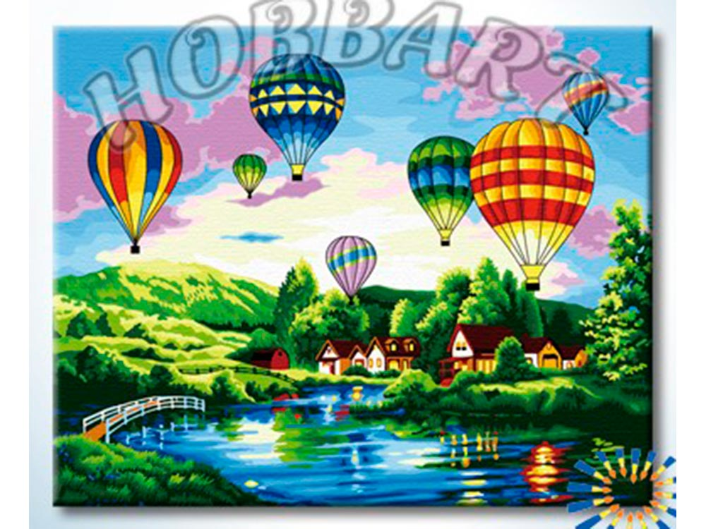 Картина по номерам «Воздушные шары» Ники БоэмHobbart<br><br><br>Артикул: HB4050318<br>Основа: Холст<br>Сложность: сложные<br>Размер: 40x50 см<br>Количество цветов: 25<br>Техника рисования: Без смешивания красок