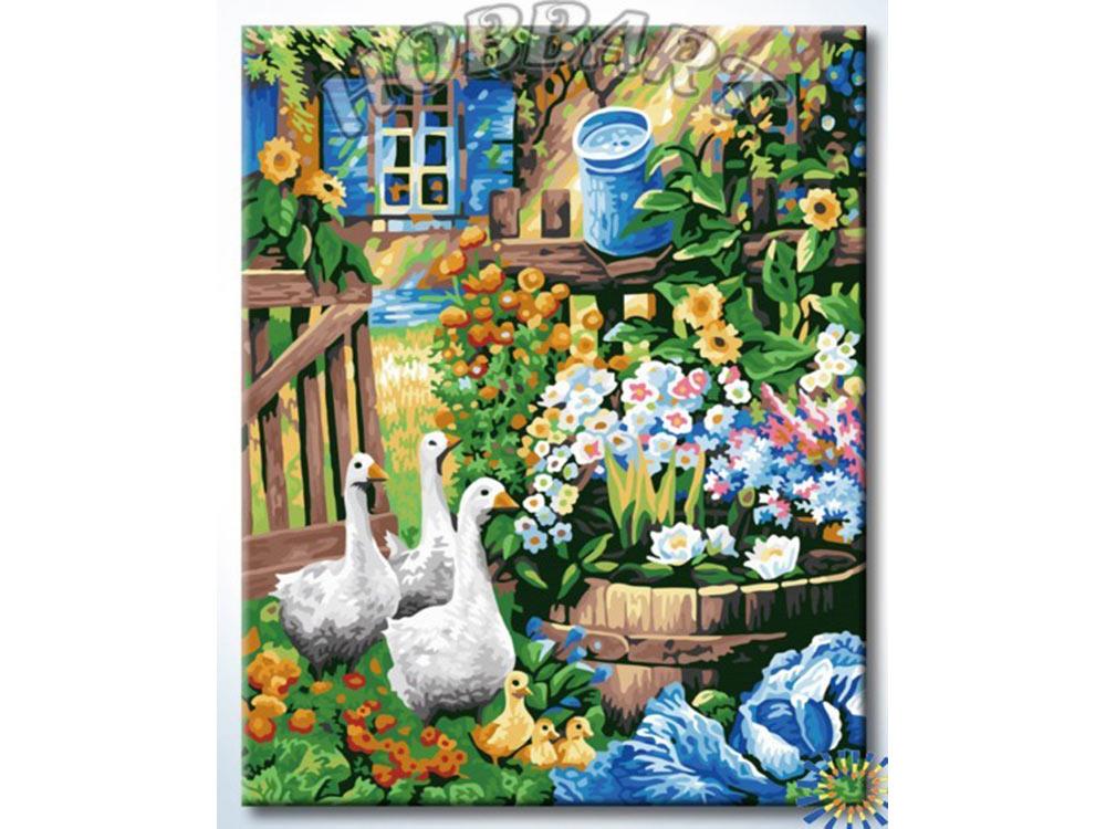 Картина по номерам «Гуси-Гуси»Hobbart<br><br><br>Артикул: HB4050372<br>Основа: Холст<br>Сложность: очень сложные<br>Размер: 40x50 см<br>Количество цветов: 30<br>Техника рисования: Без смешивания красок