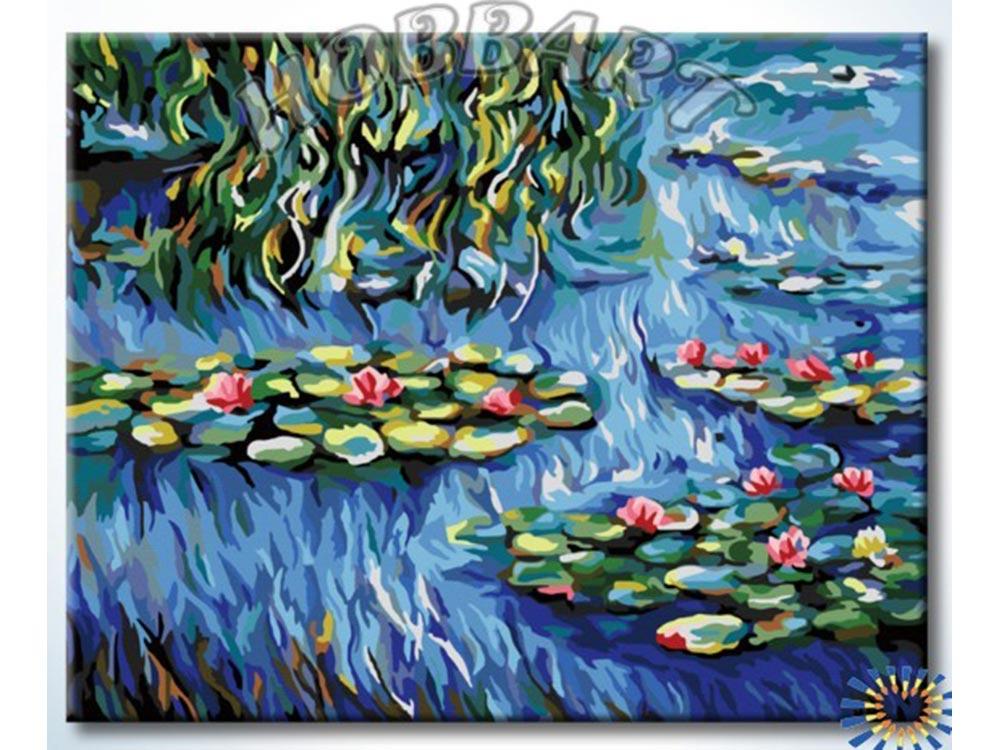 «Водяные лилии»Hobbart<br><br><br>Артикул: HB4050373<br>Основа: Холст<br>Сложность: сложные<br>Размер: 40x50 см<br>Количество цветов: 26<br>Техника рисования: Без смешивания красок