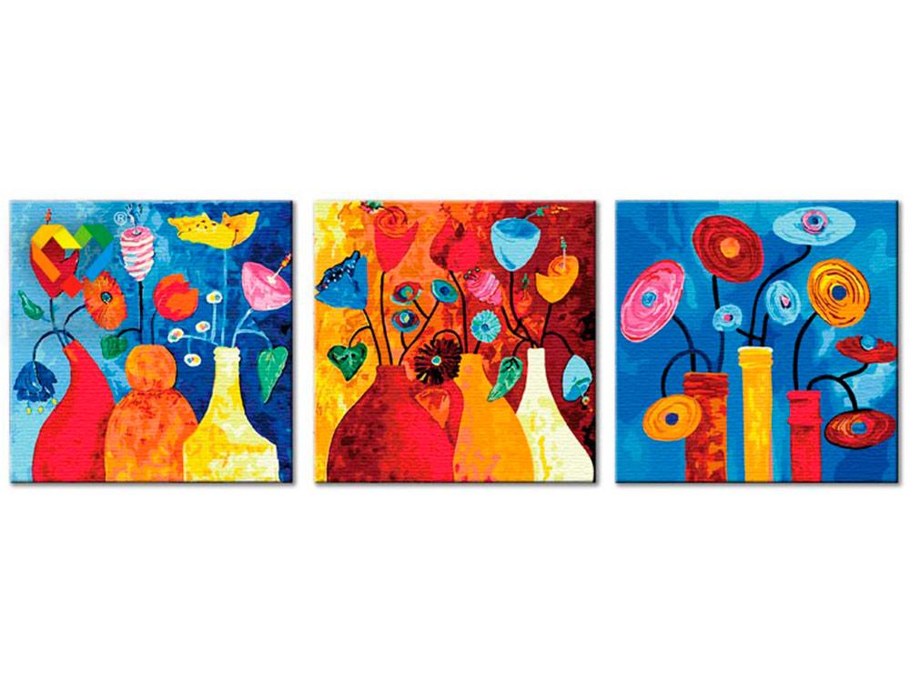 Картина по номерам «Настроение для цветов»Hobbart<br><br><br>Артикул: PH340120040<br>Основа: Холст<br>Сложность: средние<br>Размер: 3 шт. 40x40 см<br>Количество цветов: 36<br>Техника рисования: Без смешивания красок
