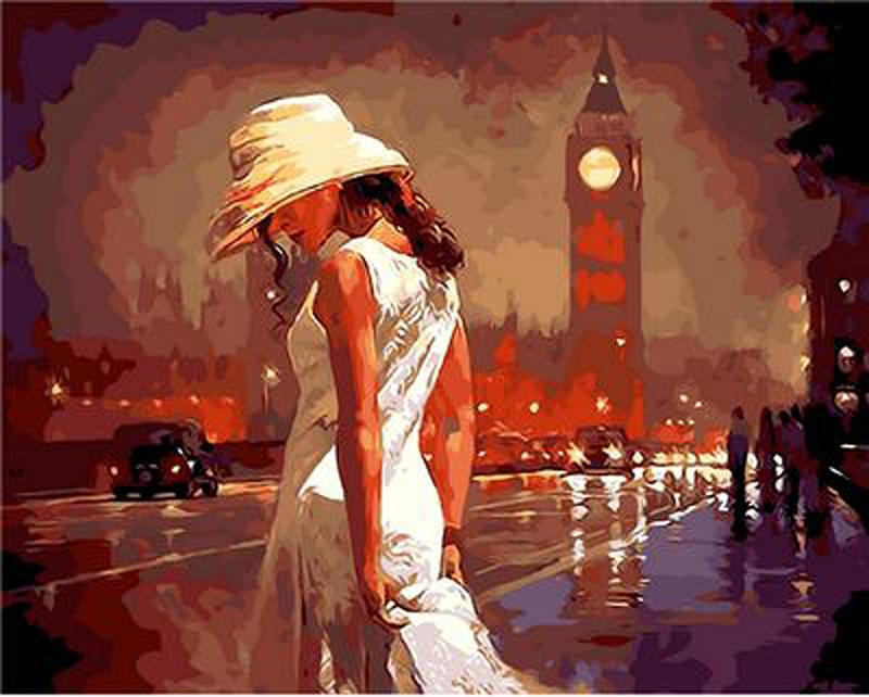 «Вечер в Лондоне» Марка СпейнаРаскраски по номерам Paintboy (Original)<br><br><br>Артикул: GX9121_R<br>Основа: Холст<br>Сложность: средние<br>Размер: 40x50 см<br>Количество цветов: 26<br>Техника рисования: Без смешивания красок
