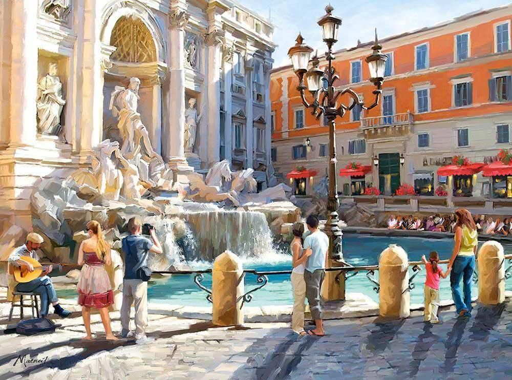 «Римский фонтан» Ричарда МакнейлаPaintboy (Premium)<br><br><br>Артикул: Gx8557<br>Основа: Холст<br>Сложность: средние<br>Размер: 40x50 см<br>Количество цветов: 27<br>Техника рисования: Без смешивания красок