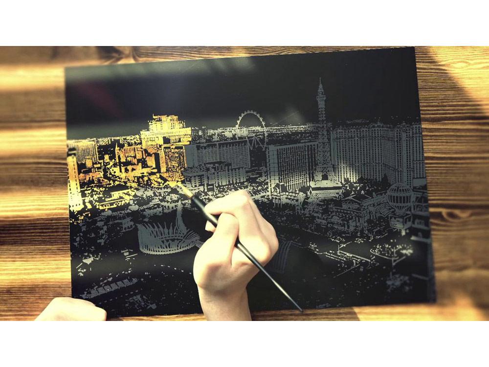 Скретч-картина «Лас-Вегас»