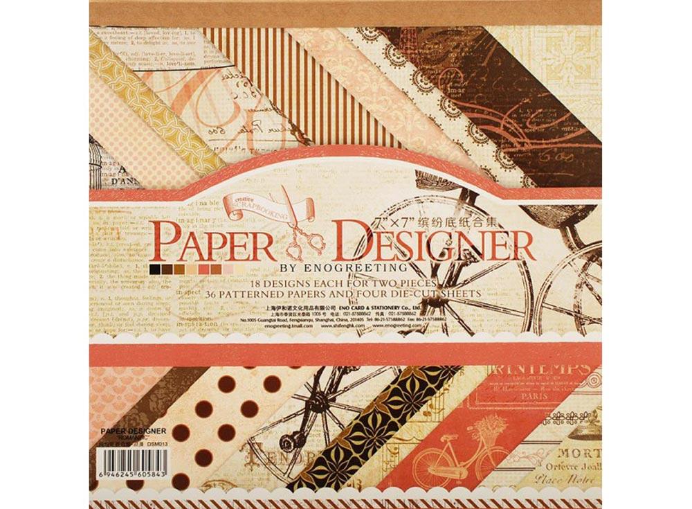 Набор бумаги «Романтика»Бумага и материалы для скрапбукинга<br><br><br>Артикул: 011-SB<br>Размер: 17,5x17,5 см