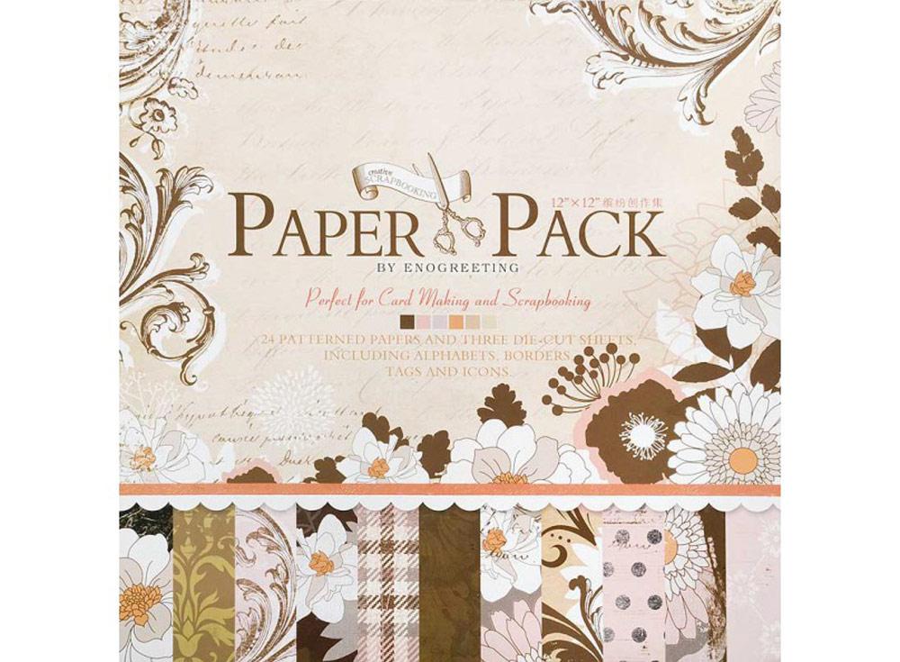 Набор бумаги «Винтажные узоры»Бумага и материалы для скрапбукинга<br><br><br>Артикул: 015-SB<br>Размер: 30,5x30,5 см