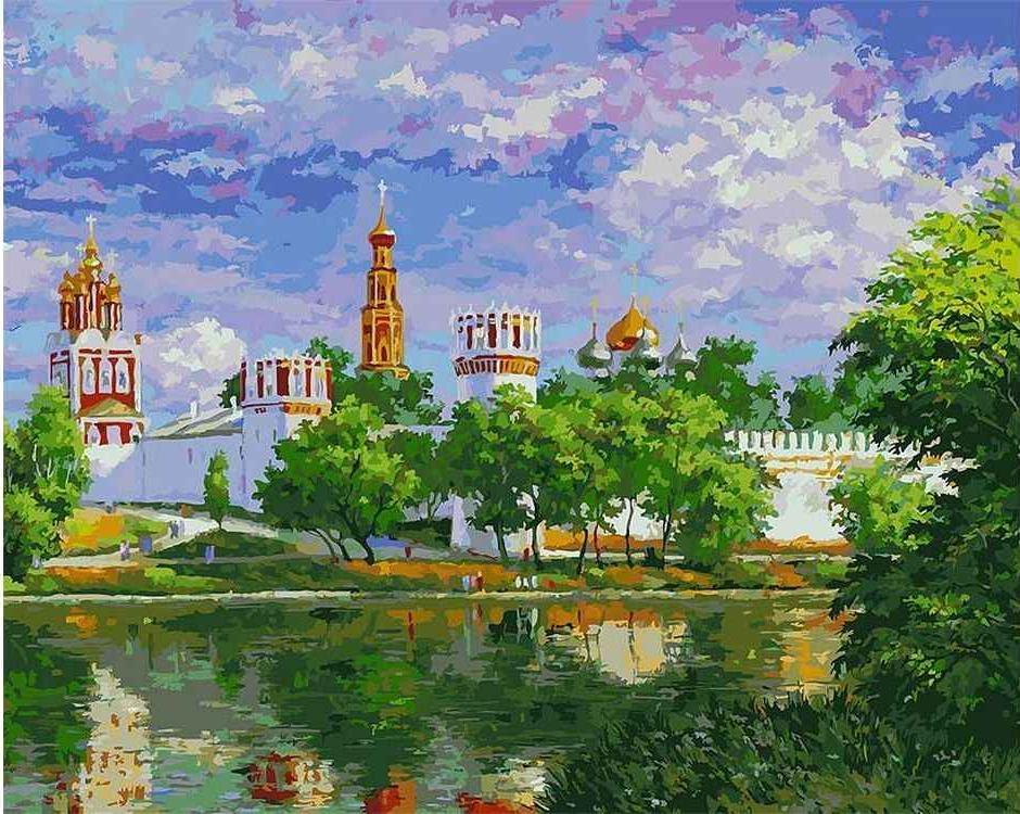 Картина по номерам «Новодевичий монастырь» Михаила БровкинаКартины по номерам Белоснежка<br><br>