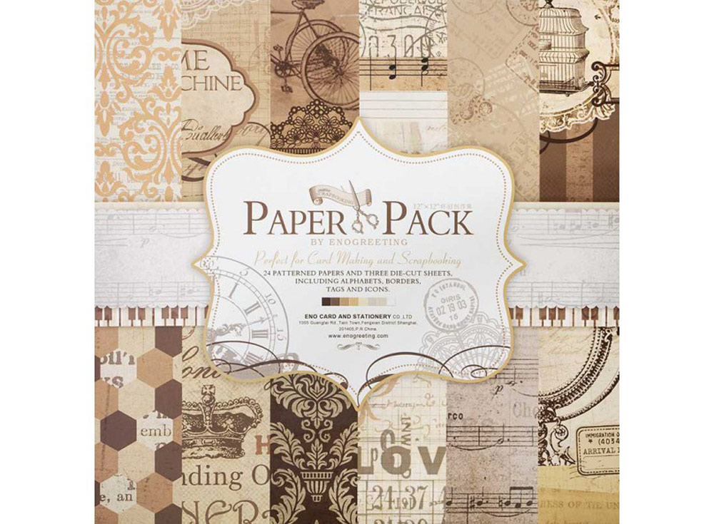 Набор бумаги «Шоколад»Бумага и материалы для скрапбукинга<br><br><br>Артикул: 020-SB<br>Размер: 30,5x30,5 см