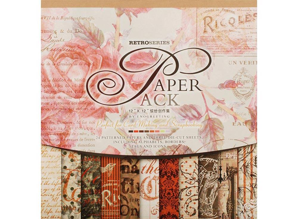 Набор бумаги «Королевские розы»Бумага и материалы для скрапбукинга<br><br><br>Артикул: 024-SB<br>Размер: 30,5x30,5 см