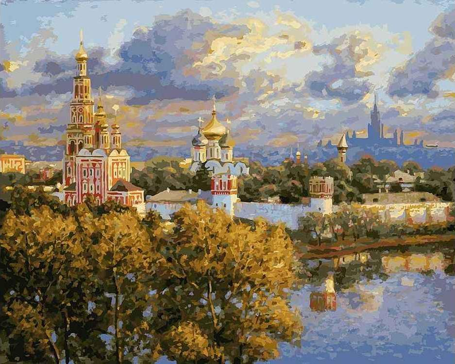 Картина по номерам «В последних лучах заката» Игоря Разживина