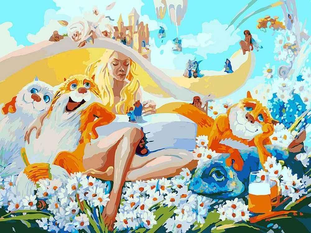 «Блондинка» Антона ГорцевичаКартины по номерам Белоснежка<br><br><br>Артикул: 078-AS<br>Основа: Холст<br>Сложность: очень сложные<br>Размер: 30x40<br>Количество цветов: 34<br>Техника рисования: Без смешивания красок