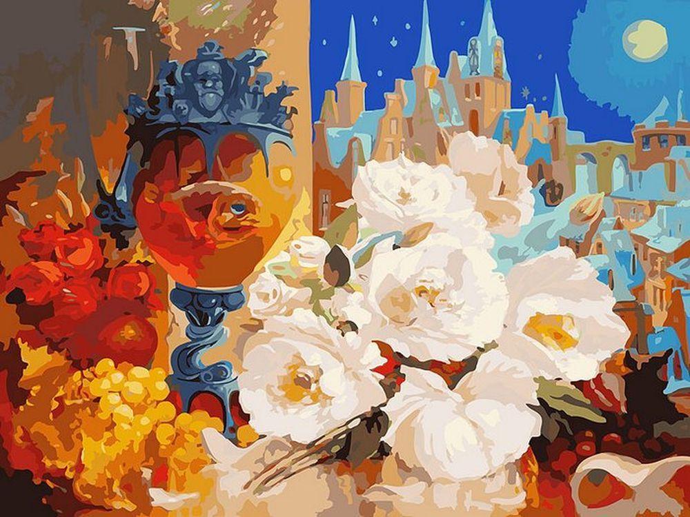 «Тихая ночь» Антона ГорцевичаКартины по номерам Белоснежка<br><br><br>Артикул: 080-AS<br>Основа: Холст<br>Сложность: очень сложные<br>Размер: 30x40<br>Количество цветов: 35<br>Техника рисования: Без смешивания красок