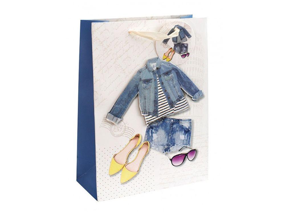 Подарочный пакет «Джинсовый наряд»Подарочные пакеты<br><br><br>Артикул: 1020-SB<br>Размер: 18x24x8 см