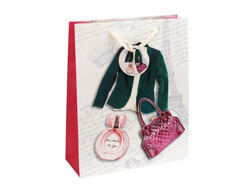 Подарочный пакет «Дамский стиль»Подарочные пакеты<br><br><br>Артикул: 1022-SB<br>Размер: 26x32x10 см