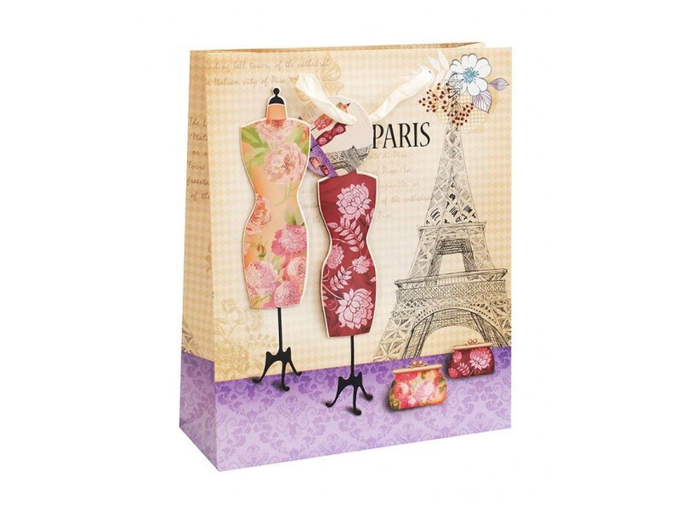 Подарочный пакет «Манекены»Подарочные пакеты<br><br><br>Артикул: 1024-SB<br>Размер: 26x32x10 см