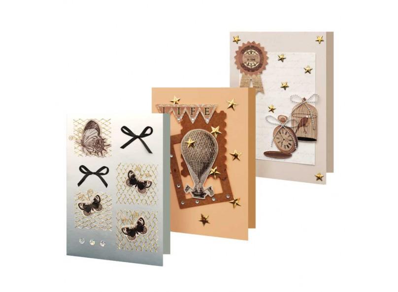Набор из 3-х открыток «Вояж»Наборы для создания открыток<br><br><br>Артикул: 110-SB<br>Размер: 11,5x17 см