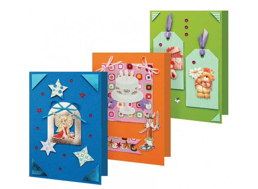 Набор из 3-х открыток «Праздник»Наборы для создания открыток<br><br><br>Артикул: 111-SB<br>Размер: 11,5x17 см