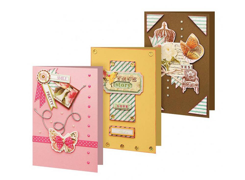 Набор из 3-х открыток «Лучезарный»Наборы для создания открыток<br><br><br>Артикул: 113-SB<br>Размер: 11,5x17