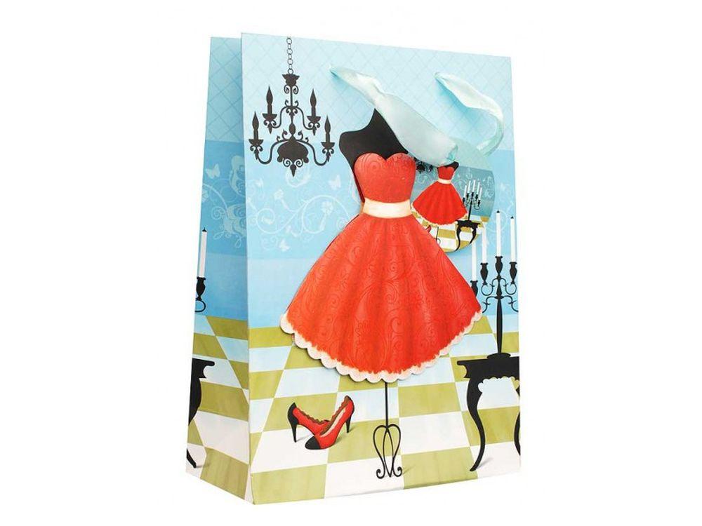 Подарочный пакет «Красное платье»Подарочные пакеты<br><br><br>Артикул: 1203-SB<br>Размер: 18x24x8 см