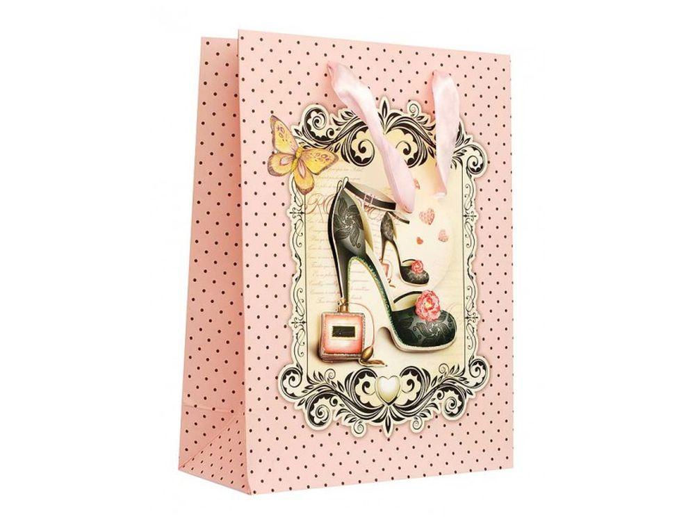 Подарочный пакет «Дамская туфелька»Подарочные пакеты<br><br><br>Артикул: 1210-SB<br>Размер: 18x24x8 см