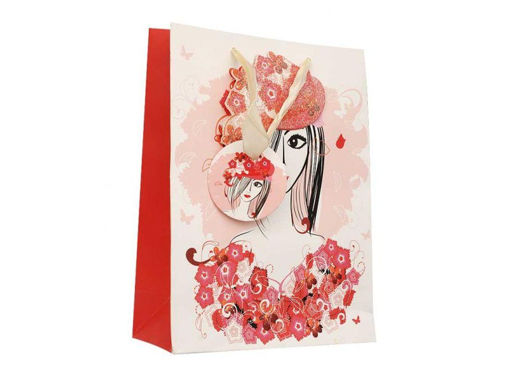 Подарочный пакет «Леди»Подарочные пакеты<br><br><br>Артикул: 1212-SB<br>Размер: 18x24x8 см