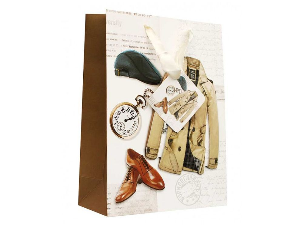 Подарочный пакет «Для мужчины»Подарочные пакеты<br><br><br>Артикул: 1300-SB<br>Размер: 18x24x8