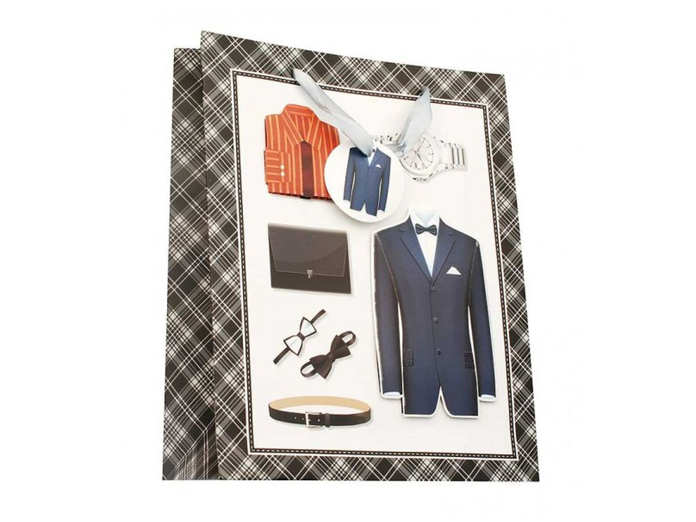 Подарочный пакет «Мужской набор»Подарочные пакеты<br><br><br>Артикул: 1309-SB<br>Размер: 26x32x10