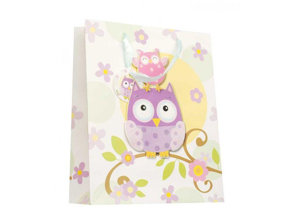 Подарочный пакет «Милые совы»Подарочные пакеты<br><br><br>Артикул: 1403-SB<br>Размер: 26x32x10