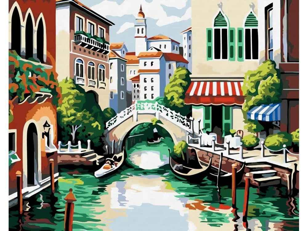 «Венеция»Картины по номерам Белоснежка<br><br><br>Артикул: 175-CG<br>Основа: Холст<br>Сложность: средние<br>Размер: 40x50<br>Количество цветов: 23<br>Техника рисования: Без смешивания красок