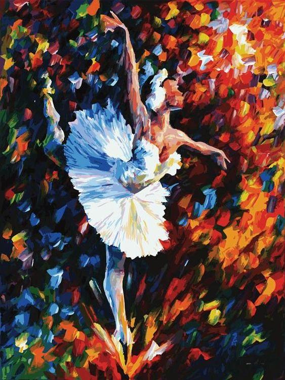 Картина по номерам «Танец души» Леонида АфремоваКартины по номерам Белоснежка<br><br><br>Артикул: 2009-AM<br>Основа: Холст<br>Сложность: очень сложные<br>Размер: 60x80 см<br>Количество цветов: 44<br>Техника рисования: Без смешивания красок