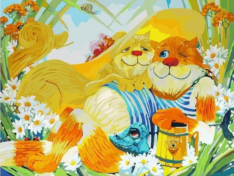 Картина по номерам «Идиллия» Антона ГорцевичаКартины по номерам Белоснежка<br><br><br>Артикул: 2011-AМ<br>Основа: Холст<br>Сложность: очень сложные<br>Размер: 60x80 см<br>Количество цветов: 53<br>Техника рисования: Без смешивания красок