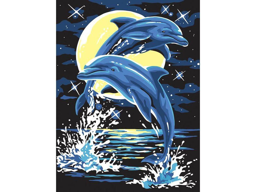 «Дельфины»Картины по номерам Белоснежка<br><br><br>Артикул: 204-CE<br>Основа: Холст<br>Сложность: легкие<br>Размер: 30x40<br>Количество цветов: 8<br>Техника рисования: Без смешивания красок