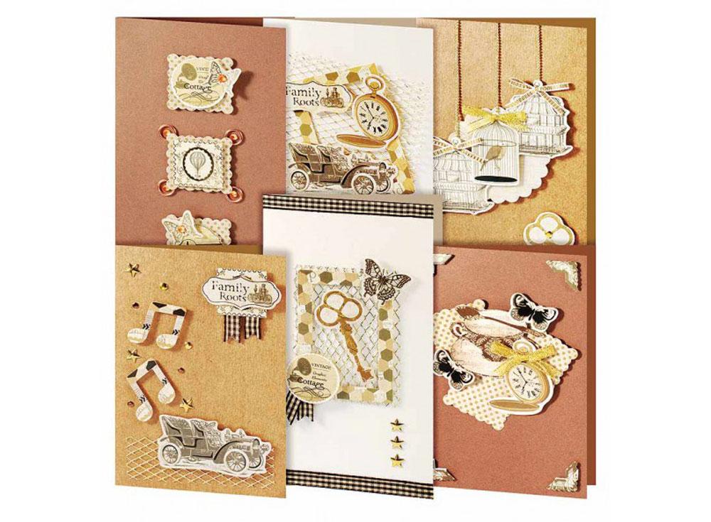 Набор из 6-ти открыток «Винтаж»Наборы для создания открыток<br><br><br>Артикул: 216-SB