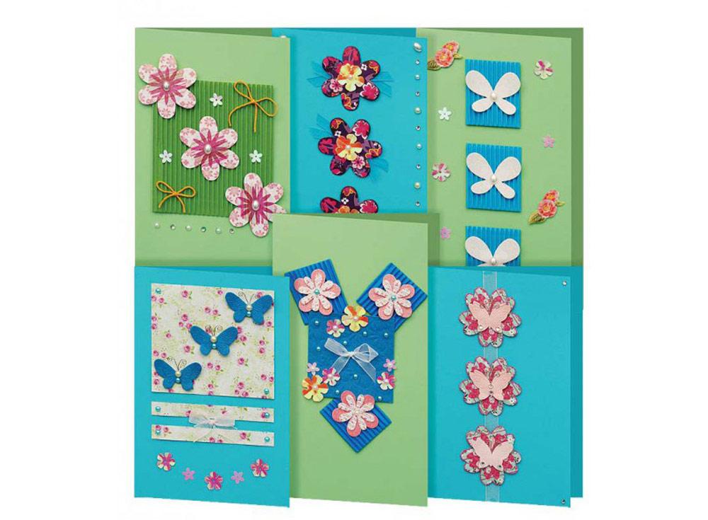 Набор из 6-ти открыток «Аквамарин»Наборы для создания открыток<br><br><br>Артикул: 218-SB