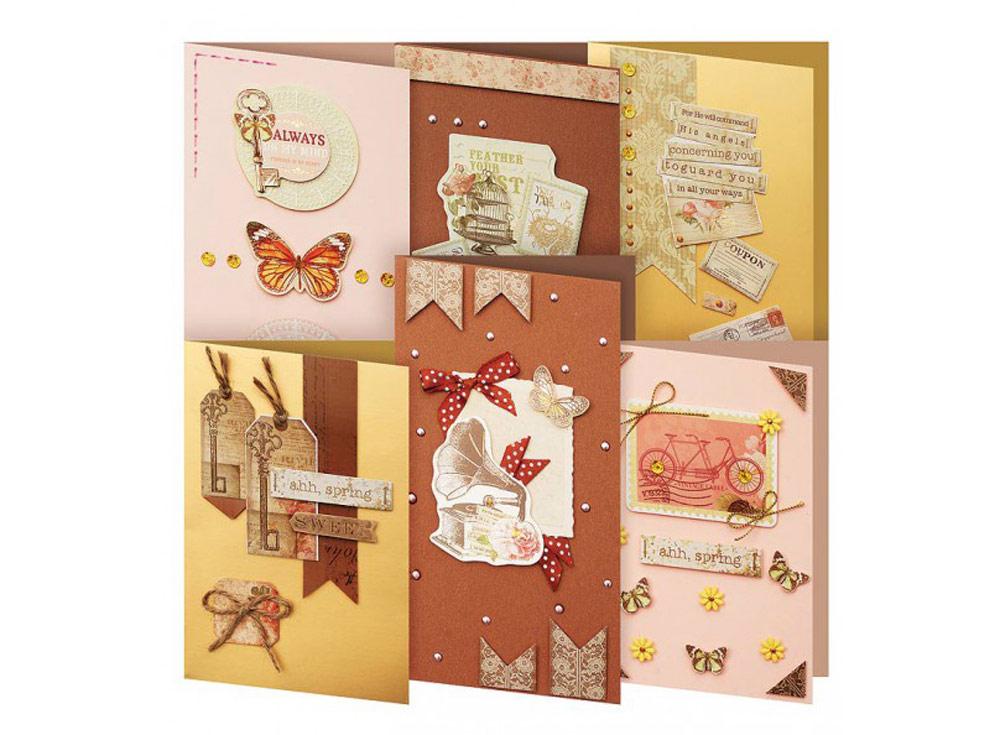 Набор из 6-ти открыток «Шоколад»Наборы для создания открыток<br><br><br>Артикул: 221-SB