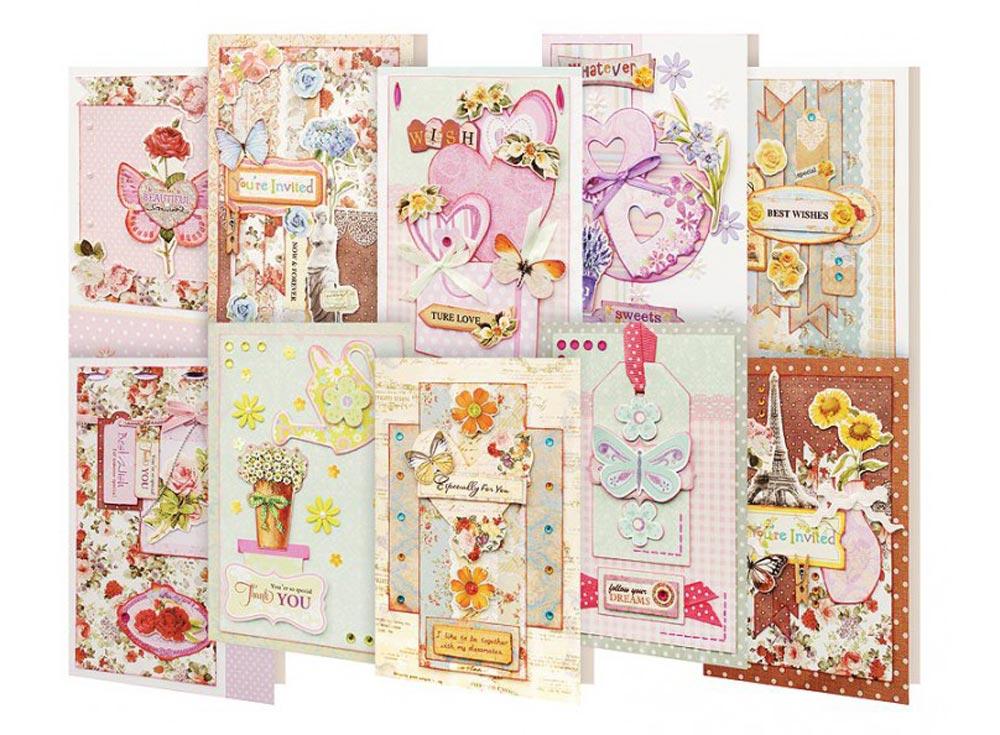 Набор из 10-ти открыток «Радужный»Наборы для создания открыток<br><br><br>Артикул: 252-SB<br>Размер: 11,5x17